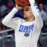 Univeristy of Florida Gators guard Chris Chiozza shooting during pre-game warmups as the Gators advance to the second round of 2017 NCAA Tournament with a win over the  East Tennessee State Buccaneers 80-65.  March 16th, 2017.  Gator Country photo by David Bowie.
