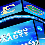The Amway Center as the Gators advance to the second round of 2017 NCAA Tournament with a win over the  East Tennessee State Buccaneers 80-65.  March 16th, 2017.  Gator Country photo by David Bowie.