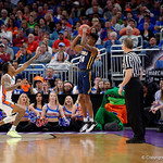 East Tennessee State University Buccaneers guard Jermaine Long shooting during the first half as the Gators advance to the second round of 2017 NCAA Tournament with a win over the  East Tennessee State Buccaneers 80-65.  March 16th, 2017.  Gator Country photo by David Bowie.