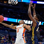 Univeristy of Florida Gators guard Kasey Hill scores during the second half as the Gators advance to the second round of 2017 NCAA Tournament with a win over the  East Tennessee State Buccaneers 80-65.  March 16th, 2017.  Gator Country photo by David Bowie.