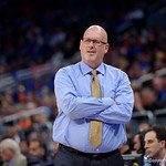 East Tennessee State University Buccaneers head coach Steve Forbes during the first half as the Gators advance to the second round of 2017 NCAA Tournament with a win over the  East Tennessee State Buccaneers 80-65.  March 16th, 2017.  Gator Country photo by David Bowie.