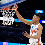 Univeristy of Florida Gators forward Devin Robinson throws down a monster dunk during the second half as the Gators advance to the second round of 2017 NCAA Tournament with a win over the  East Tennessee State Buccaneers 80-65.  March 16th, 2017.  Gator Country photo by David Bowie.
