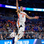 Univeristy of Florida Gators guard Chris Chiozza lays the ball in during the second half as the Gators advance to the second round of 2017 NCAA Tournament with a win over the  East Tennessee State Buccaneers 80-65.  March 16th, 2017.  Gator Country photo by David Bowie.