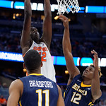 Univeristy of Florida Gators center Gorjok Gak dunking during the second half as the Gators advance to the second round of 2017 NCAA Tournament with a win over the  East Tennessee State Buccaneers 80-65.  March 16th, 2017.  Gator Country photo by David Bowie.