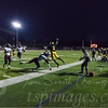 SJV's  Zyaire Sterling dancing away from Matawan tacklers on sideline