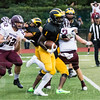 Chris Chukwuneke (1) of SJV on a running play in the first quarter