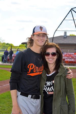 Varsity Baseball Moms Night and Senior Night