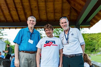 Bob Meynardie '77, Marek Pramuka, Assistant Head of School for Admissions and Marketing and John Meynardie '77