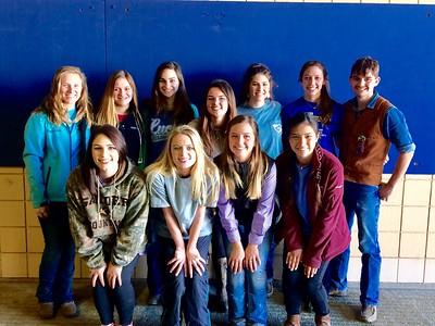 FFA Show Cattle Team: Kenzie Jeter, Cortni Cox, Gracie Kempken, Magan Cotham, Emily Pate, Olivia Cates, Ty Kempken  Rachel Pate, Hailey Binkley, Haley Bratton, and Brianne Wharton in Fort Worth Cattle Show. (John Aldridge is not pictured)
