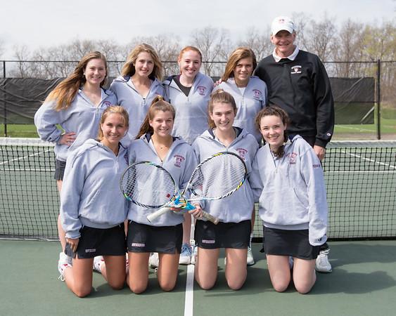 Spring 2017 varsity girls tennis team photo