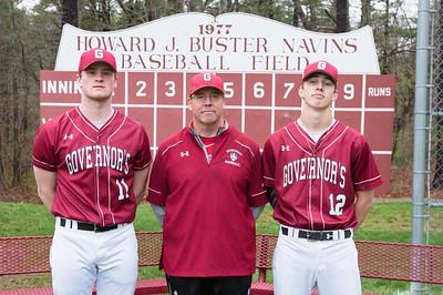 Spring baseball class of 2017 Shane Smith, Mike Kinnealey, Brett O'Leary