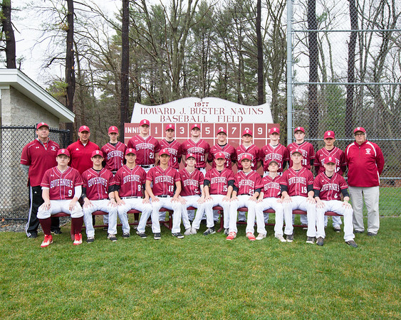 Spring 2017 varsity baseball team photo