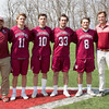 Boys' varsity lacrosse spring 2017 Tim Winslow, Griffin Harris class of 2017, Nicholas Colstad class of 2017, Brendan Jordon class of 2018, Will Schlager class of 2018