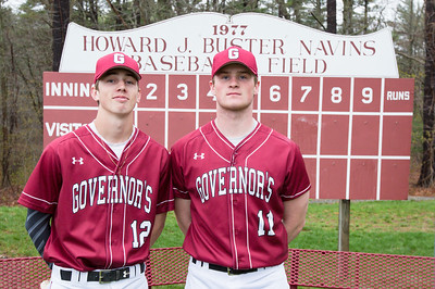 Spring 2017 baseball captains Brett O'Leary class of 2017 and Shane Smith class of 2018