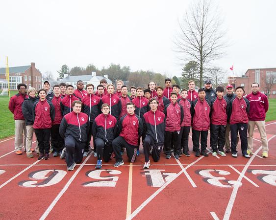 Spring boys' track 2017 team photo