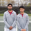 Spring 2017 Boys' varity tennis captains Rohan Chaturvedi class of 2018 and Max Lee class of 2018