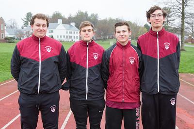 2017 spring track captains class of 2017 Max Ciati-Nardone, Alex Eliasen, Will Johnson, Alex Berzansky