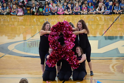 High School Pink Out Pep Rally