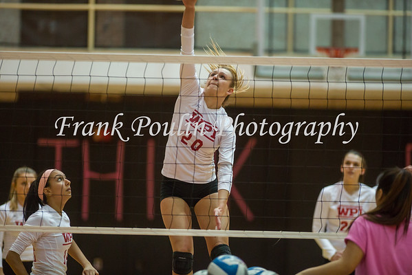 WPI volleyball 10/25/2016