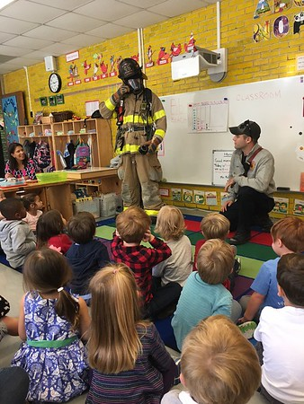 Firefighters visit Early Childhood at Staurt