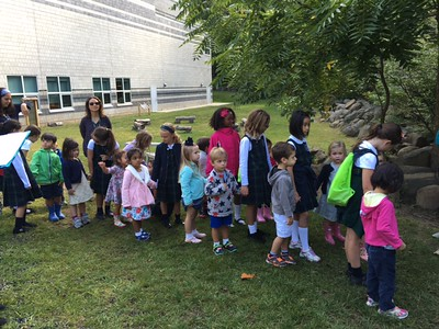Three-year-old classes bird walk