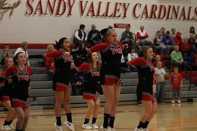 Cheer @ Sandy Valley Basketball
