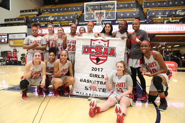 DCSAA Girls Basketball Finals: St. John's vs. Visitation