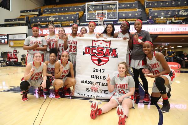 DCSAA Girls Basketball Finals: St. John's vs. Visitation