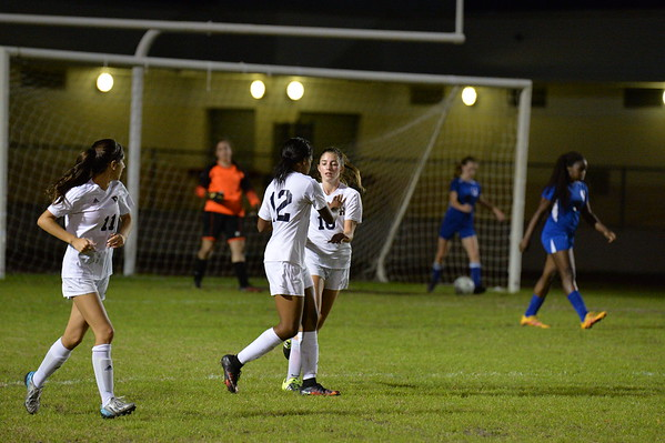 1-18-17 Girls Soccer Coral Springs