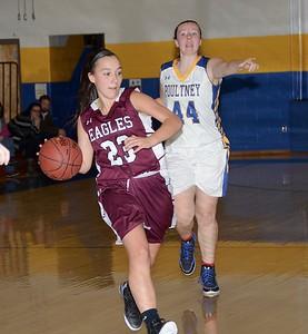 2016 Varsity Girls Basketball vs Poultney photos by Gary Baker