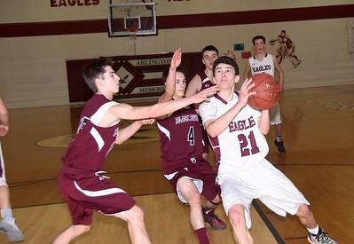 2017 AMHS Boys Varsity Basketball Playdown vs BR photos by Gary Baker