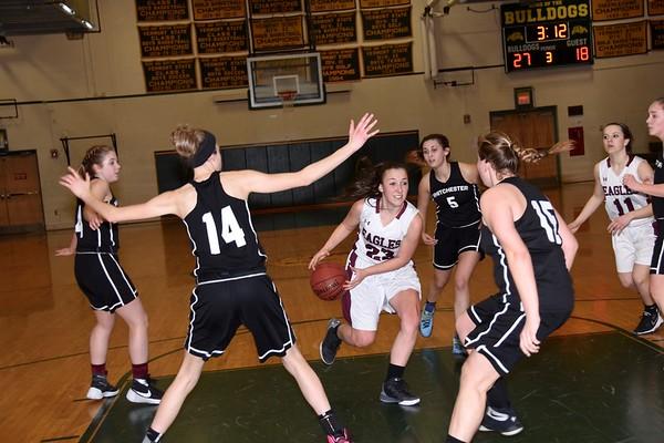 2017 AMHS Girls Varsity Basketball Playdown vs Whitchester photos by Gary Baker