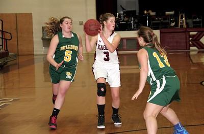 2017 Girls JV Basketball vs BBA photos by Gary Baker