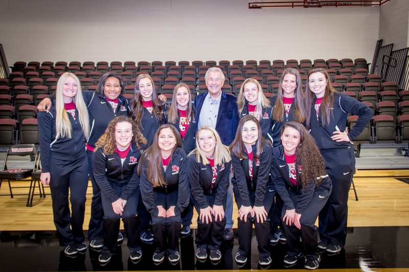Bill Fox with the Warrior Volleyball Team