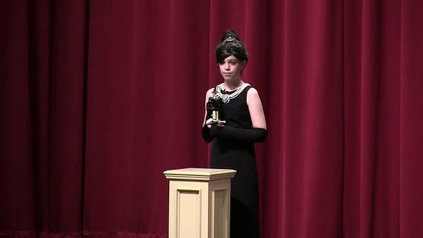 Delaney Staab as Audrey Hepburn