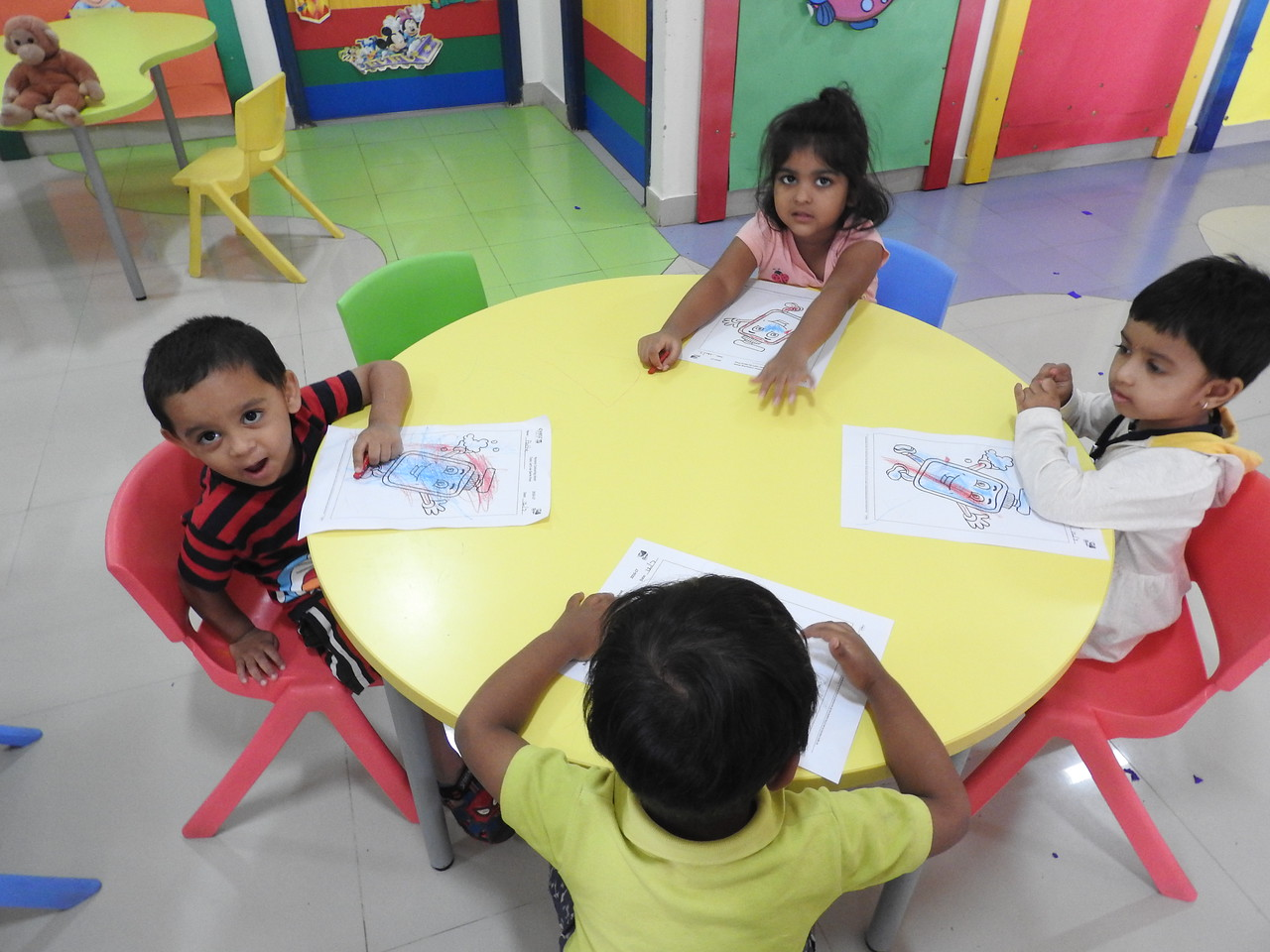 MOO MOOS DURING COLOURING ACTIVITY