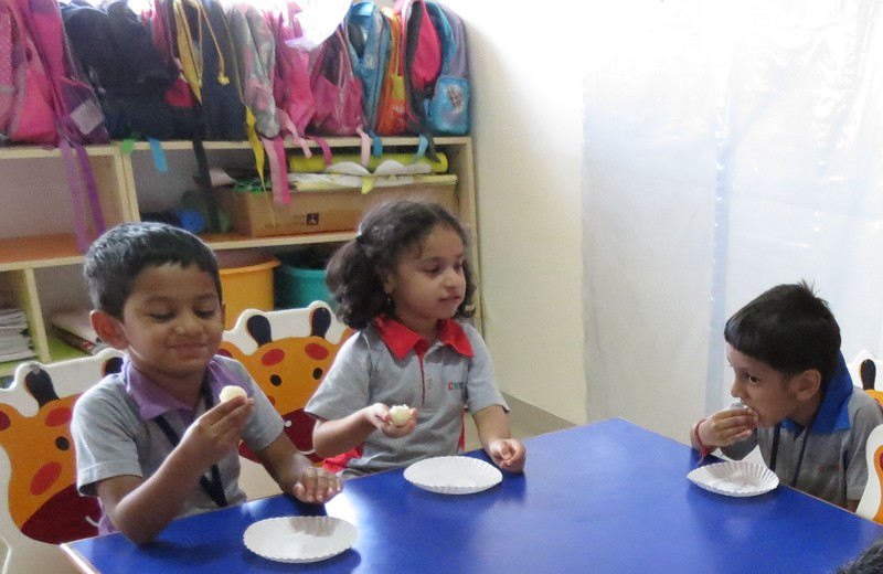 DEVELOPING SENSORY AND FINE MOTOR SKILLS WHILE MAKING AND TASTING LADOOS DURING DIWALI CELEBRATION