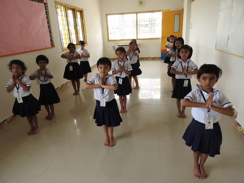 ENJOYING IN THE DANCE CLASS