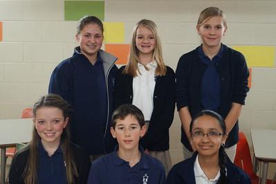 Seventh Graders: Madelyn Seiler, Grace Pope, Whitney Befort, Avery Werth, Nick Herrman, and Divya Samayaji.