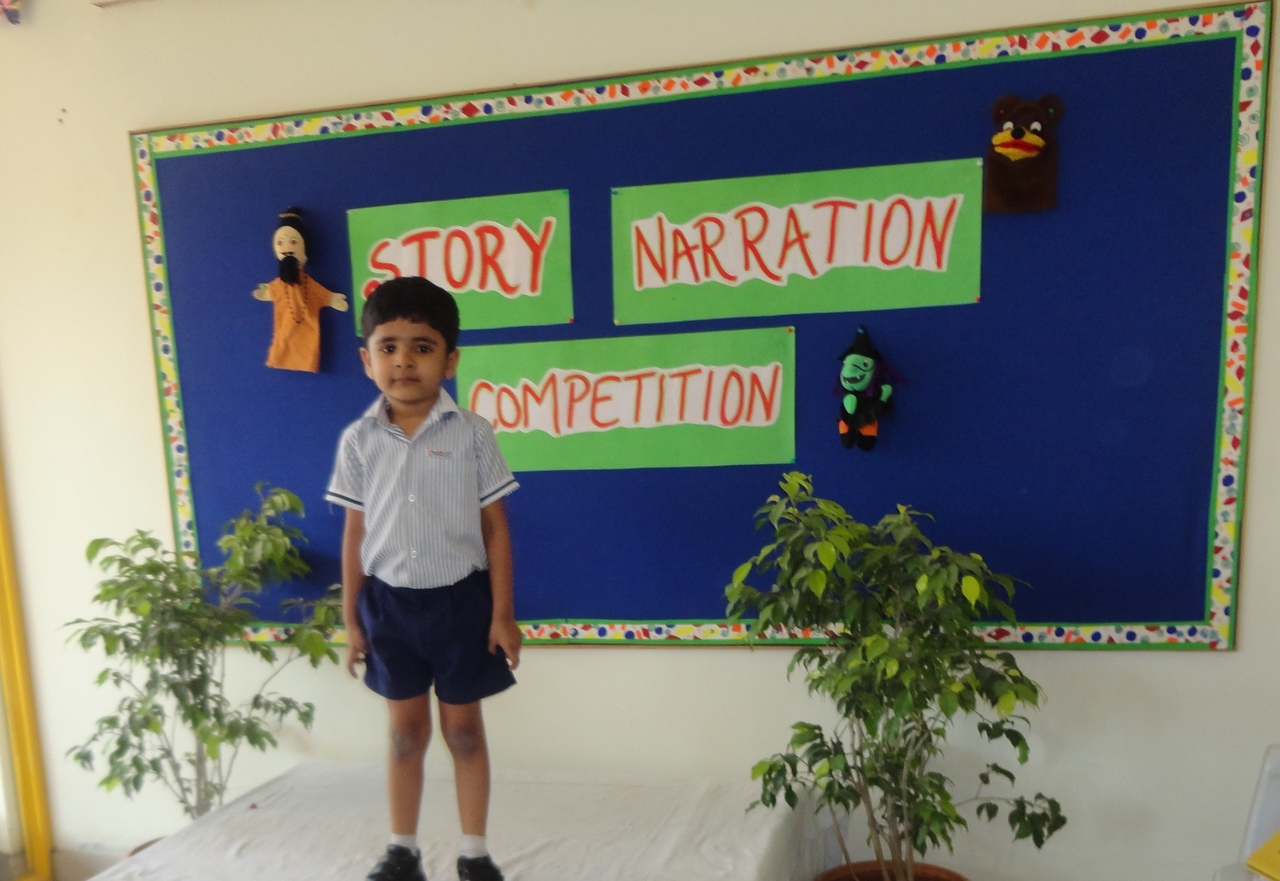 SHLOK DURING PRELIM ROUND OF STORY NARRATION COMPETITION