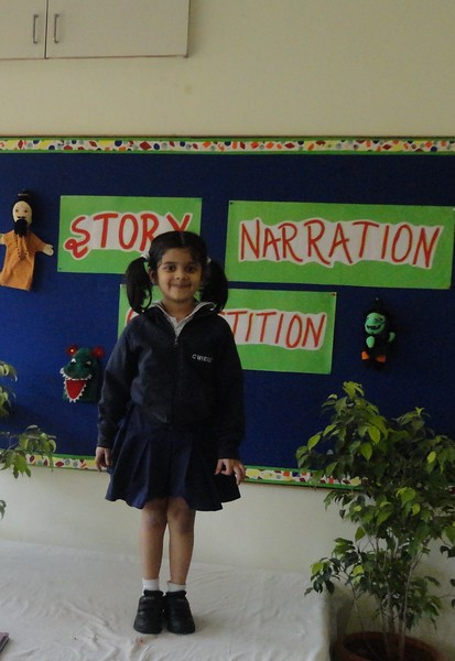 ANIKA VARMA DURING PRELIM ROUND OF STORY NARRATION COMPETITION