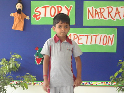 AARUSH DURING PRELIM ROUND OF STORY NARRATION COMPETITION