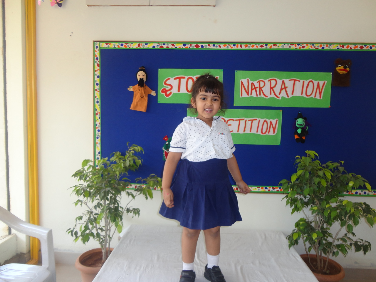 ANIKKHA DURING PRELIM ROUND OF STORY NARRATION COMPETITION