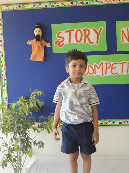 DIVIT DURING PRELIM ROUND OF STORY TELLING COMPETITION