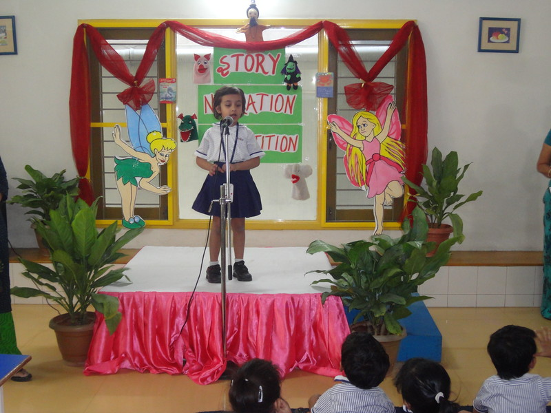 ANIKA RAO DURING FINAL ROUND OF STORY NARRATION COMPETITION