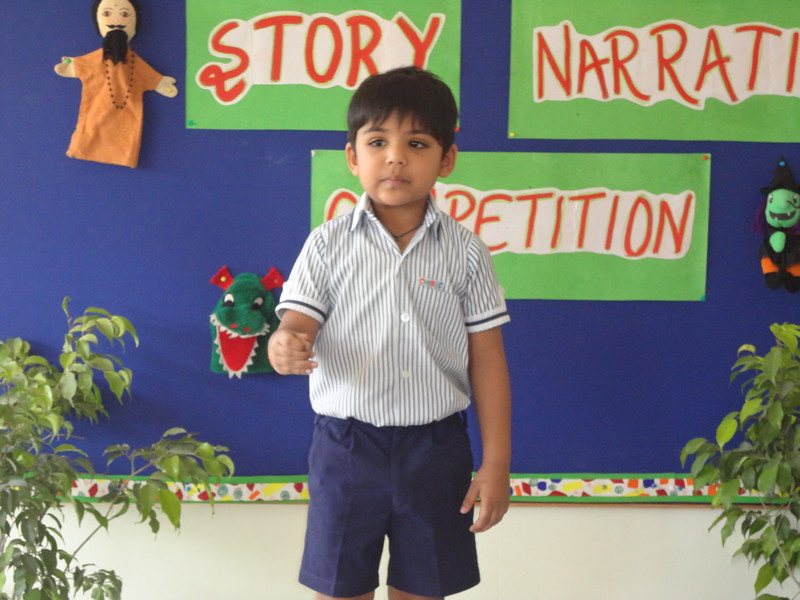 BHOUTIK DURING PRELIM ROUND OF STORY NARRATION COMPETITION