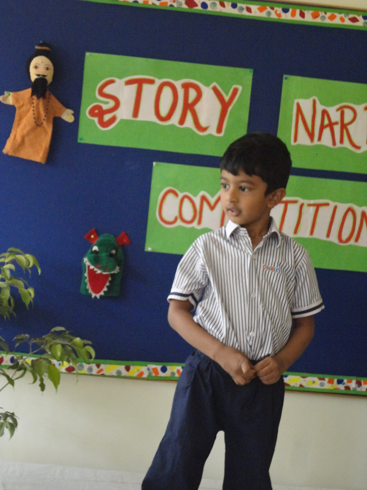 ADARSH DURING PRELIM ROUND OF STORY TELLING COMPETITION