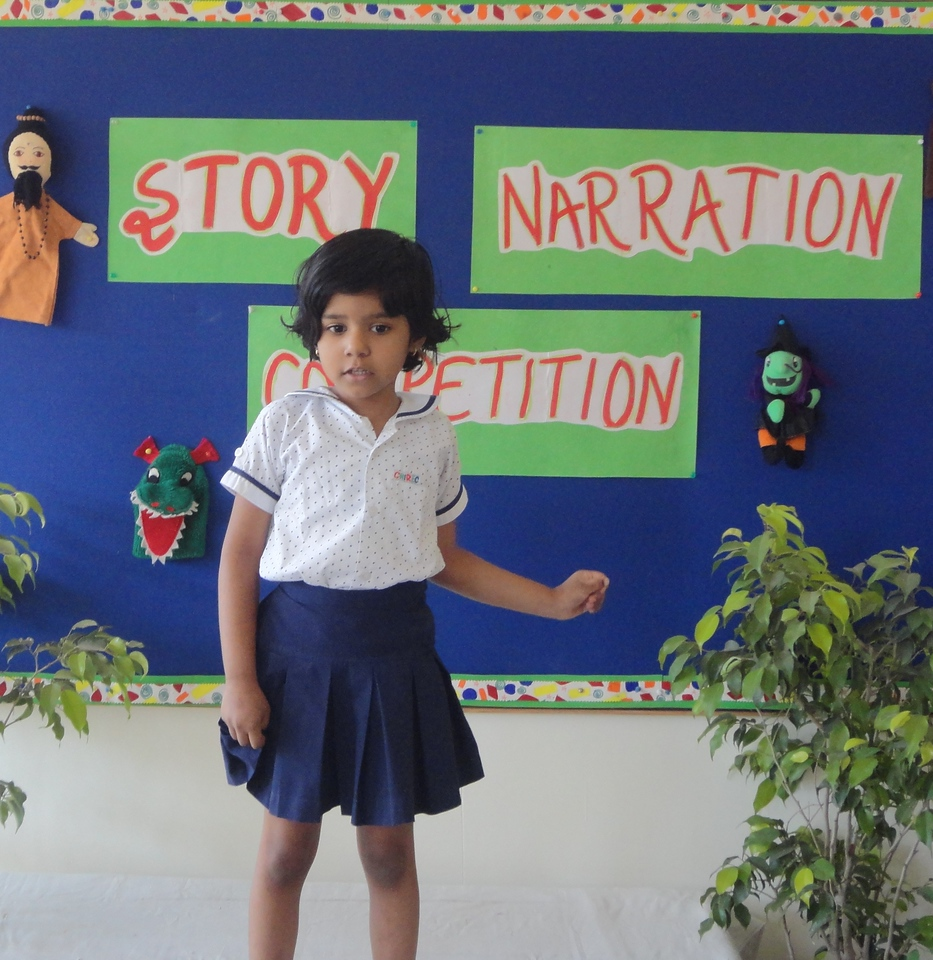CHARVI DURING PRELIM ROUND OF STORY NARRATION COMPETITION
