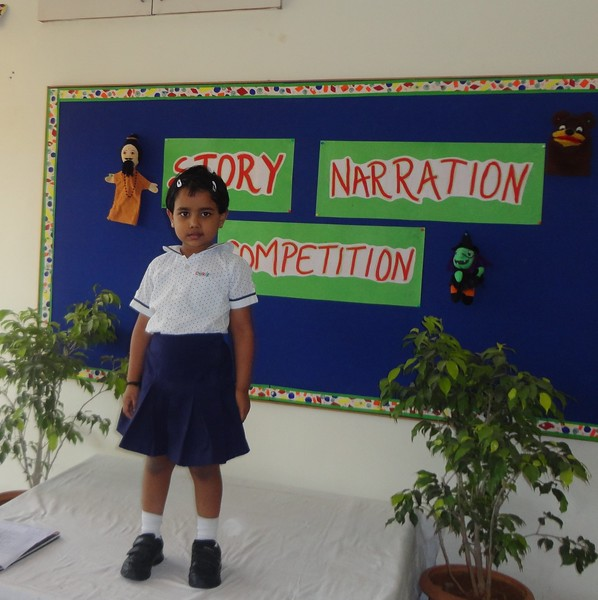 ANVITHA DURING PRELIM ROUND OF STORY NARRATION COMPETITION
