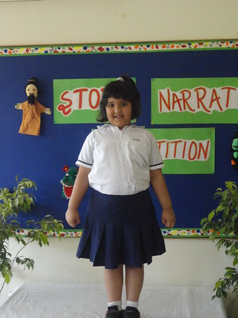 ADITI DURING PRELIM ROUND OF STORY NARRATION COMPETITION